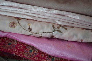 Fabric inventory - pink