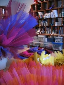Multi-coloured nets add life to a tutu skirt