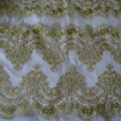 light gold panelled lace