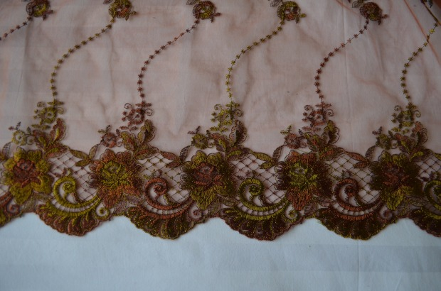 olive and brown lace