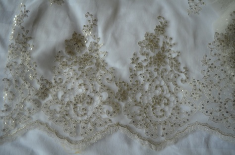 white sequin lace