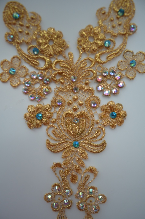 blinged up venise lace