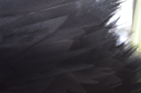 black ruffles