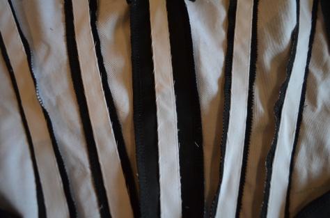boning casing sewn in