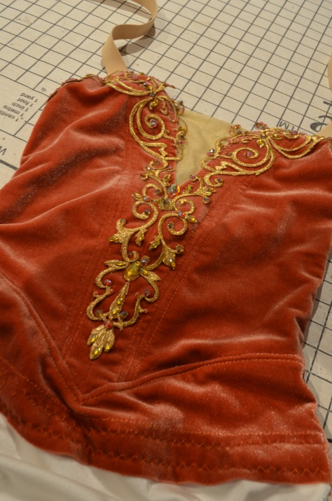 bodice decorated