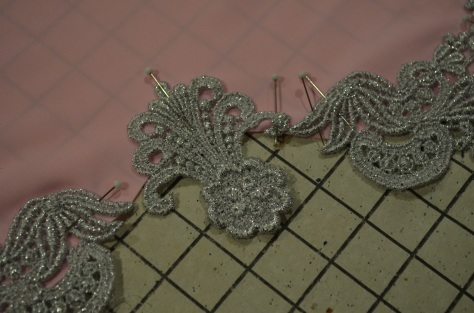 pinning on appliques