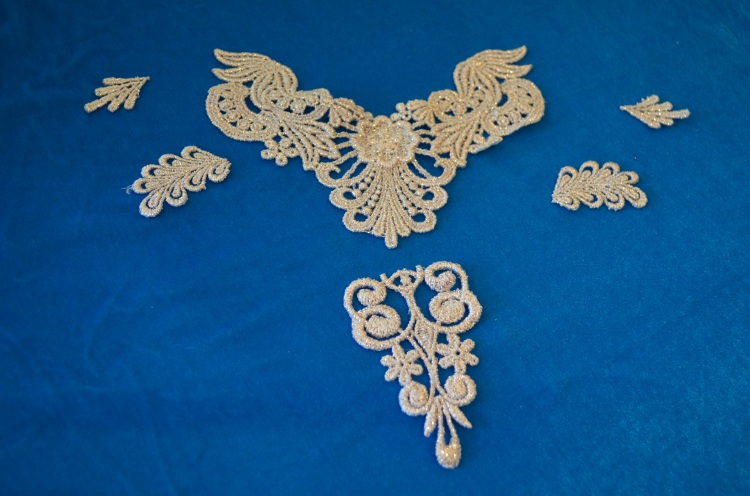 exploded appliques